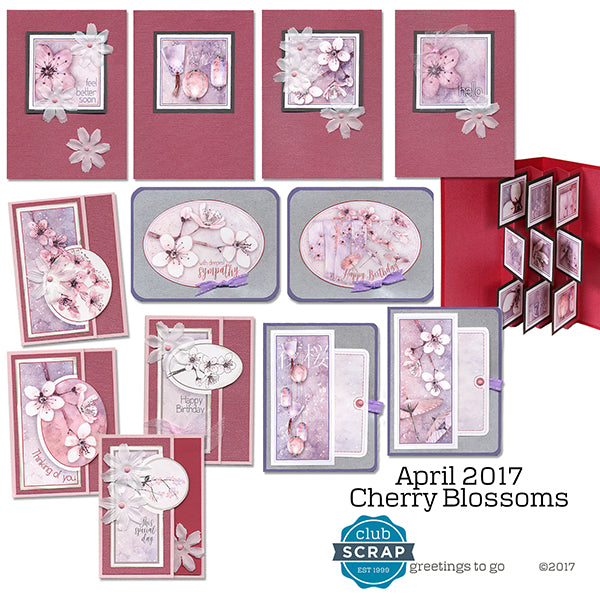 Cherry Blossoms Greetings to Go kit