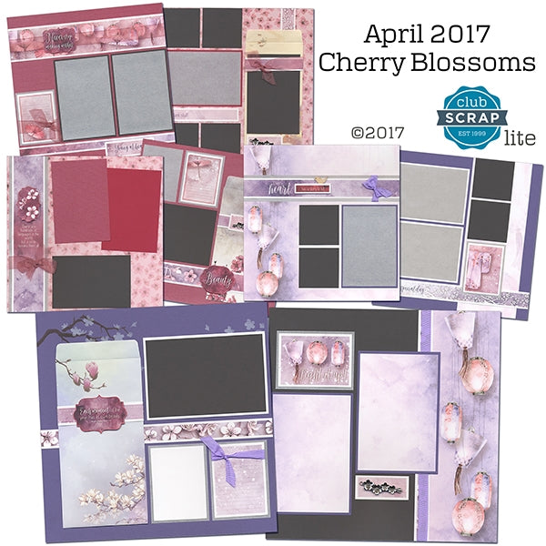 Cherry Blossoms Lite page kit