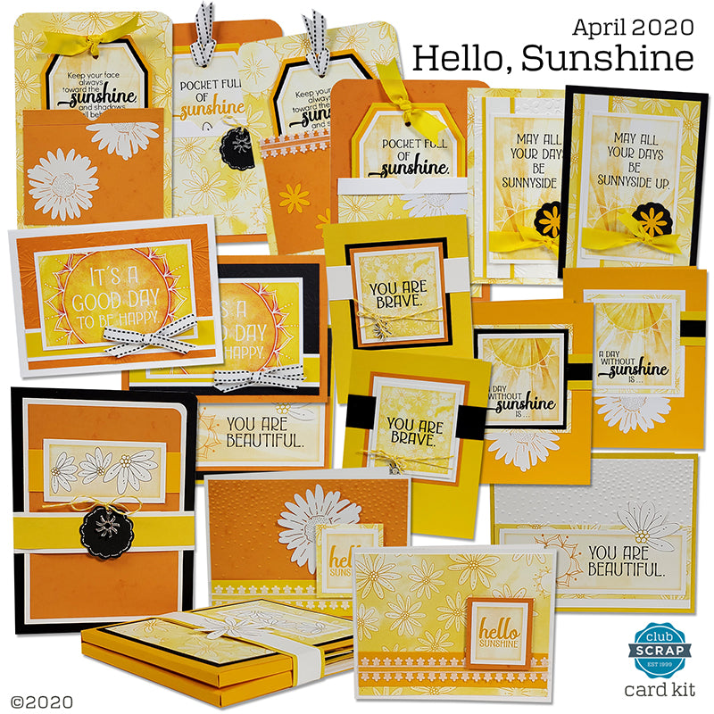 Hello, Sunshine Cards by Club Scrap #cardkit #clubscrap #cardmaking