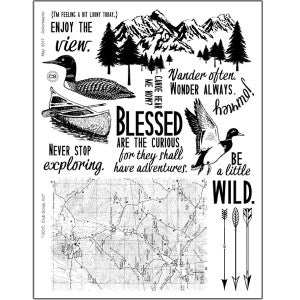 Club Scrap Adirondacks Rubber Stamps