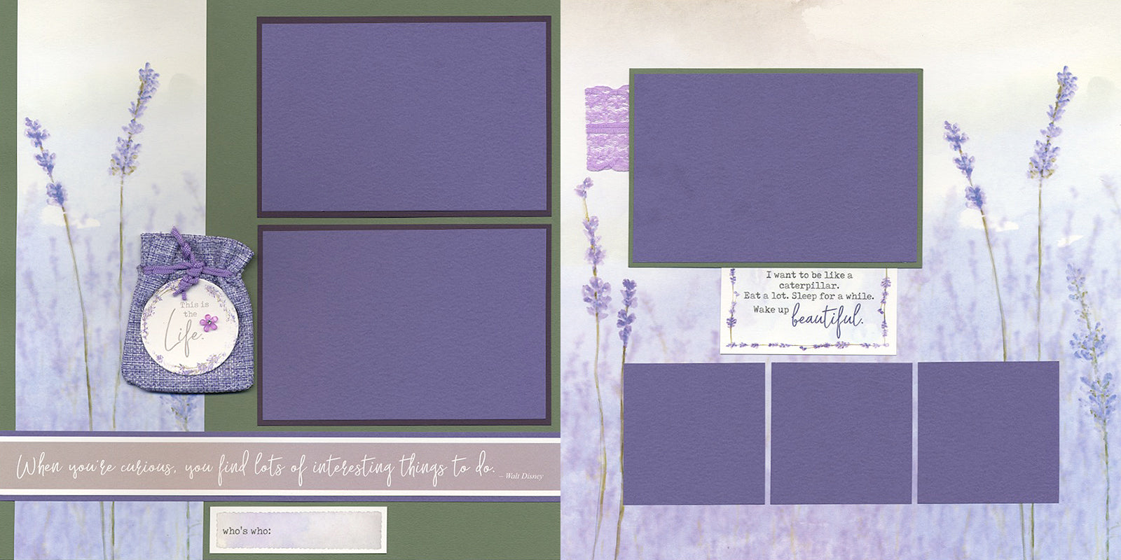 Lavender Fields Pages - Club Scrap Page Kit #clubscrap #scrapbooking