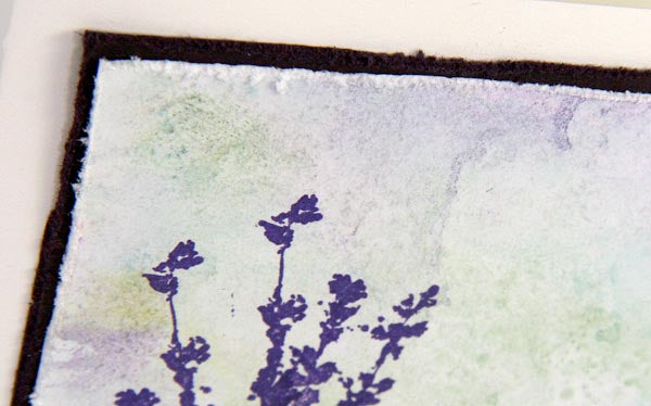 Greeting Card Created With Club Scrap's Lavender Fields Stamps #clubscrap #lavenderfields #stamping