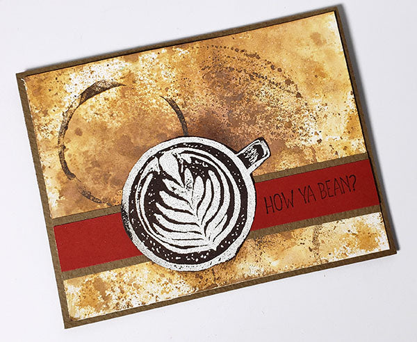 Coffeehouse Projects - Stamped greeting card #clubscrap #cardmaking