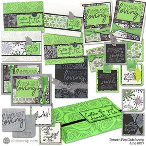 Club Scrap's Pattern Play Club Stamp Kit #clubscrap #rubberstamping