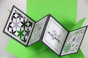 Club Scrap Pattern Play Greetings to Go Pop-up Card #clubscrap #popupcard
