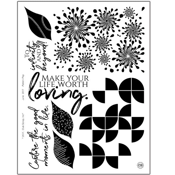 Club Scraps Pattern Play Rubber Stamping