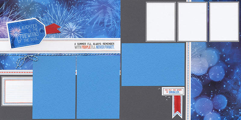 Firecracker Page Kit by Club Scrap #clubscrap #scrapbooking