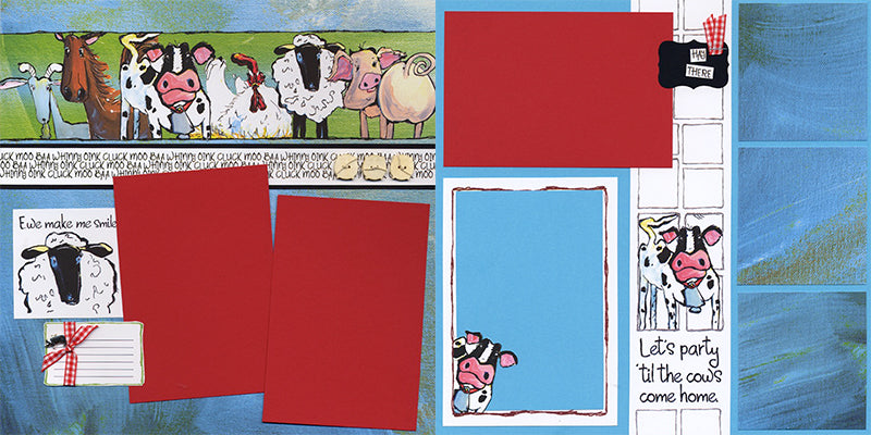 Farm Critters Pages by Club Scrap #clubscrap #scrapbooking #pagekit