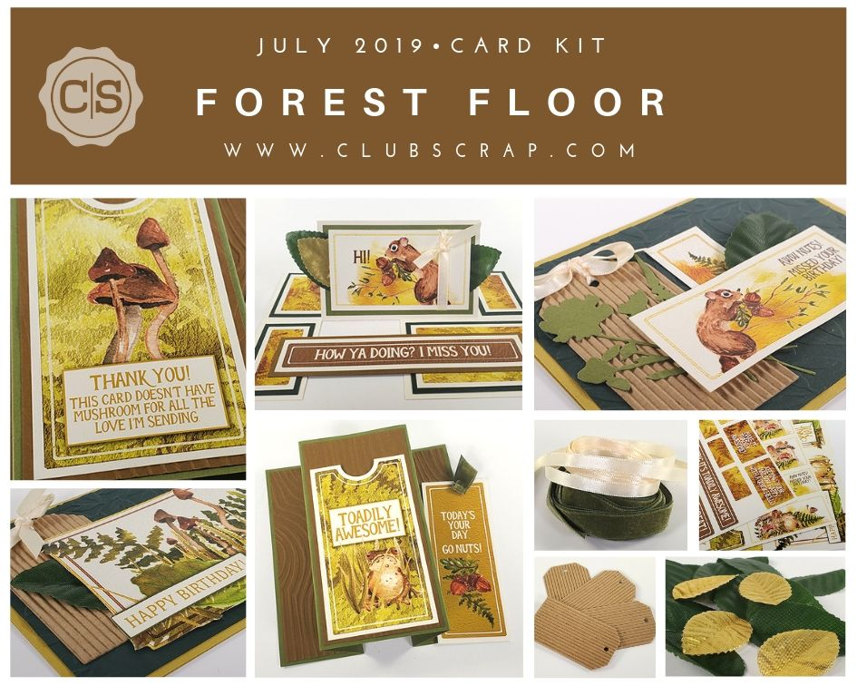 Forest Floor Spoiler - Card Kit by Club Scrap #cardkit #cardmaking #spoiler
