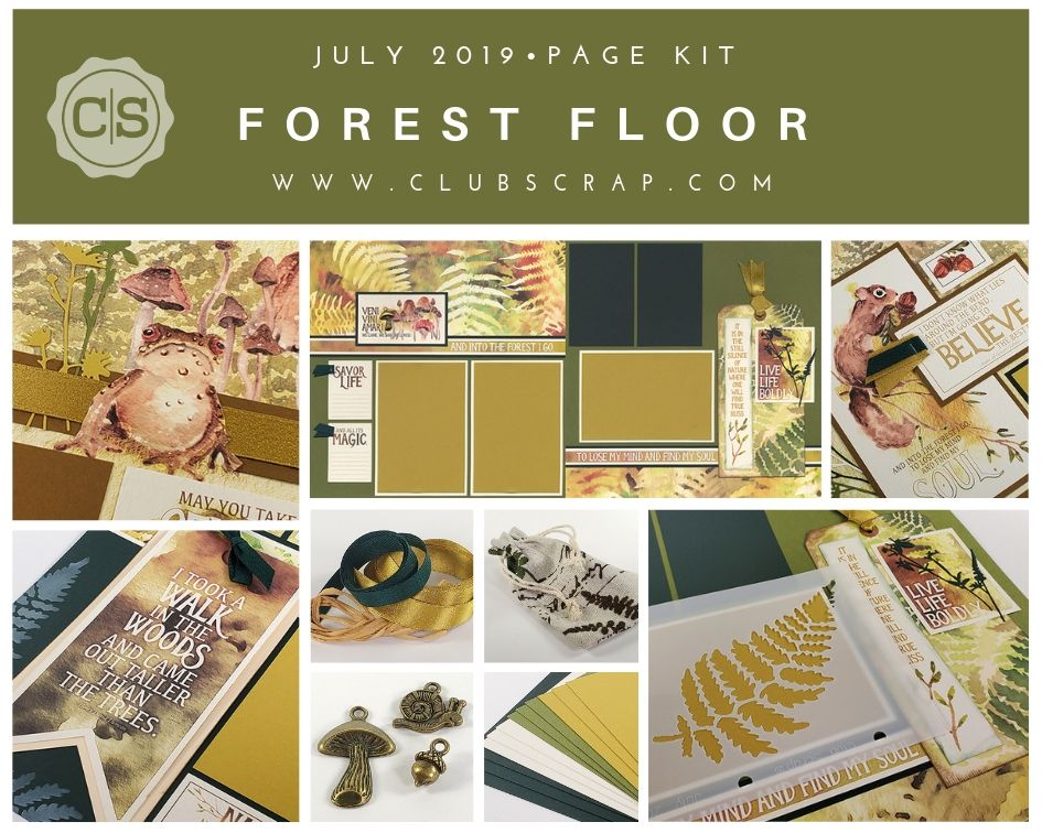 Forest Floor Spoiler - Page Kit by Club Scrap #clubscrap #pagekit #scrapbooking #spoiler