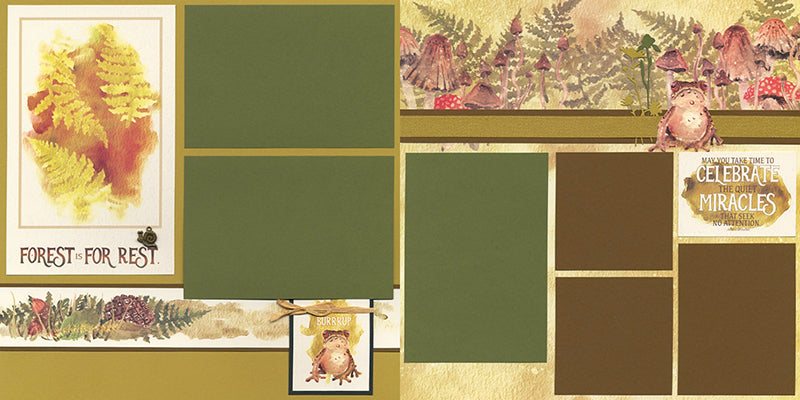 Forest Floor Page Kit by Club Scrap #clubscrap #scrapbooking #pagekit
