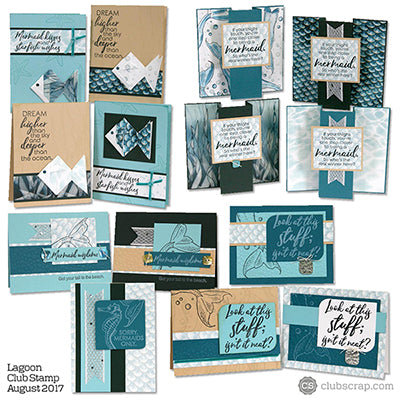 Lagoon Cards from Club Stamp #clubscrap #cardmaking