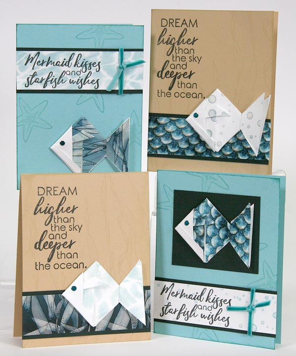 Lagoon Club Stamp Cards #clubscrap #cardmaking