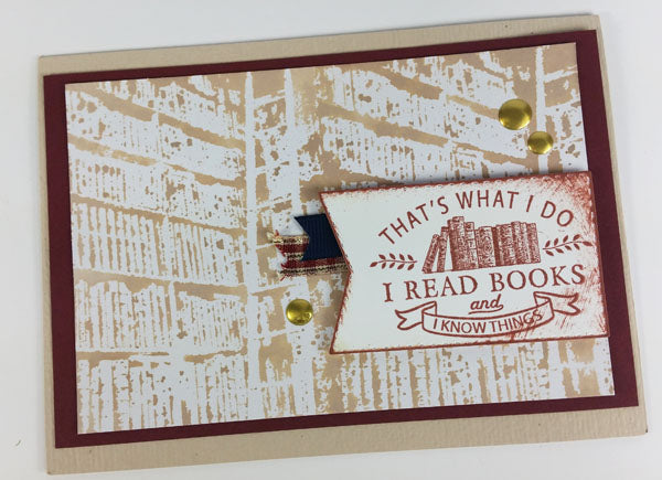 Ivy League stamped greetings by Lisa D. #clubscrap #cardmaking