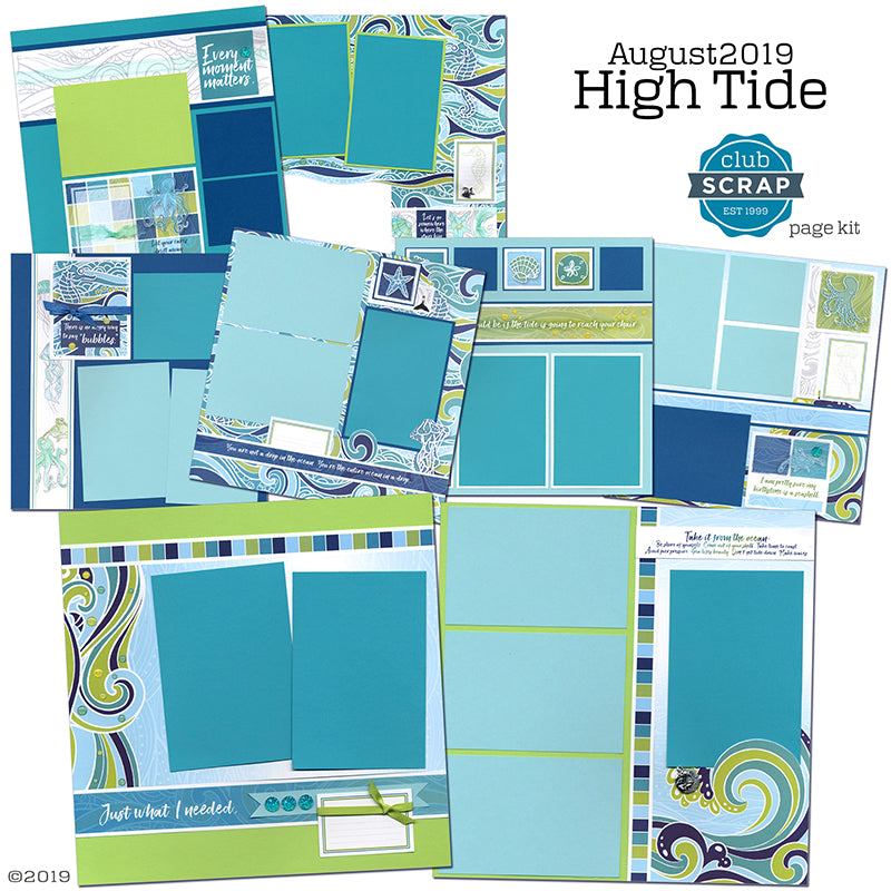High Tide Page Kit by Club Scrap #clubscrap #pagekit #scrapbookingkit #scrapbooking