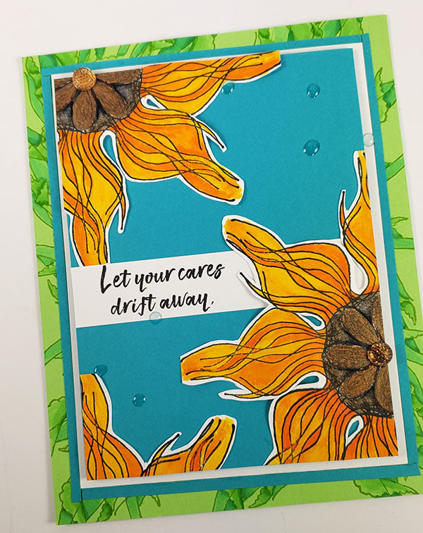 """High Tide stamped """"flowers"""" - cards by Cyndy Rogers"""