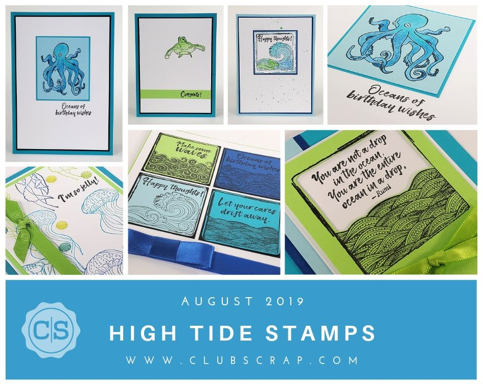 High Tide Spoiler - Stamps by Club Scrap #clubscrap #spoiler #stamping #cardmaking