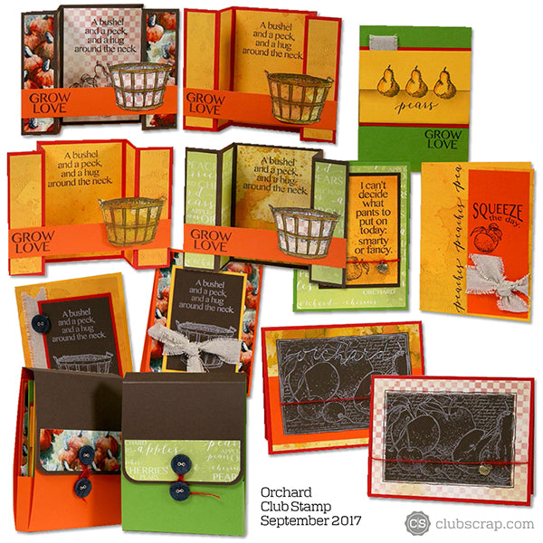 Orchard Club Stamp card kit