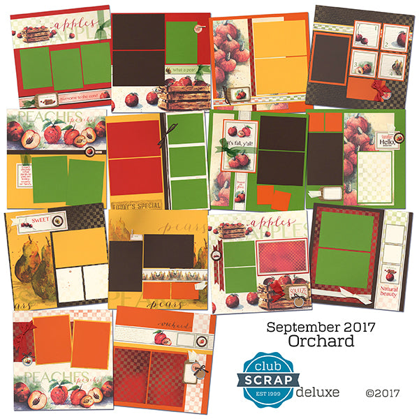Club Scrap Orchard Collection Layouts #clubscrap #orchard