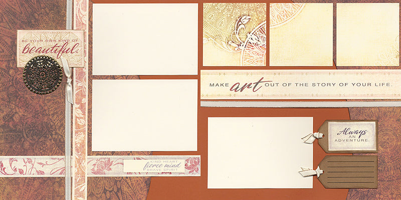 Club Scrap's Tapestry Page Kit #clubscrap #scrapbooking
