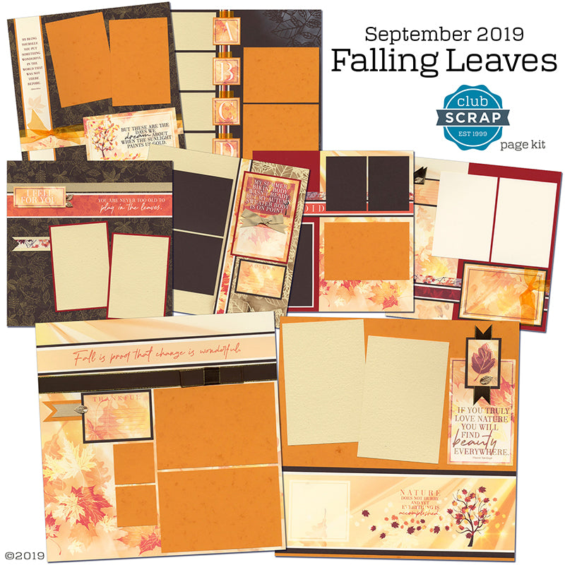 Falling Leaves Page Kit by Club Scrap #clubscrap #pagekit #scrapbooking