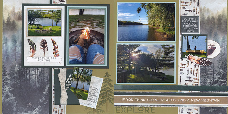 Pacific Northwest Page kit - Layout 7 & 8 #clubscrap