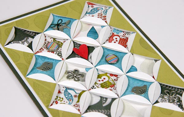 Quilt card Created With Scandinavia Club Stamp #clubscrap