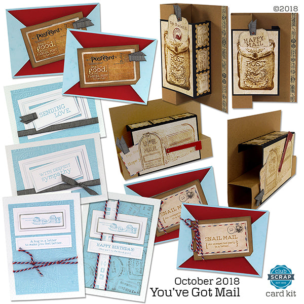 You've Got Mail Card Kit - October 2018 Club Scrap collection #cardkit #clubscrap #cardmaking