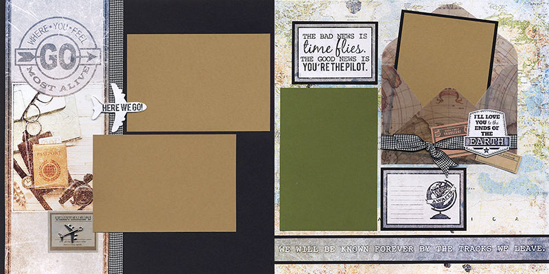 Expeditions Page Kit by Club Scrap #clubscrap #scrapbooking #pageKit #efficientscrapbooking