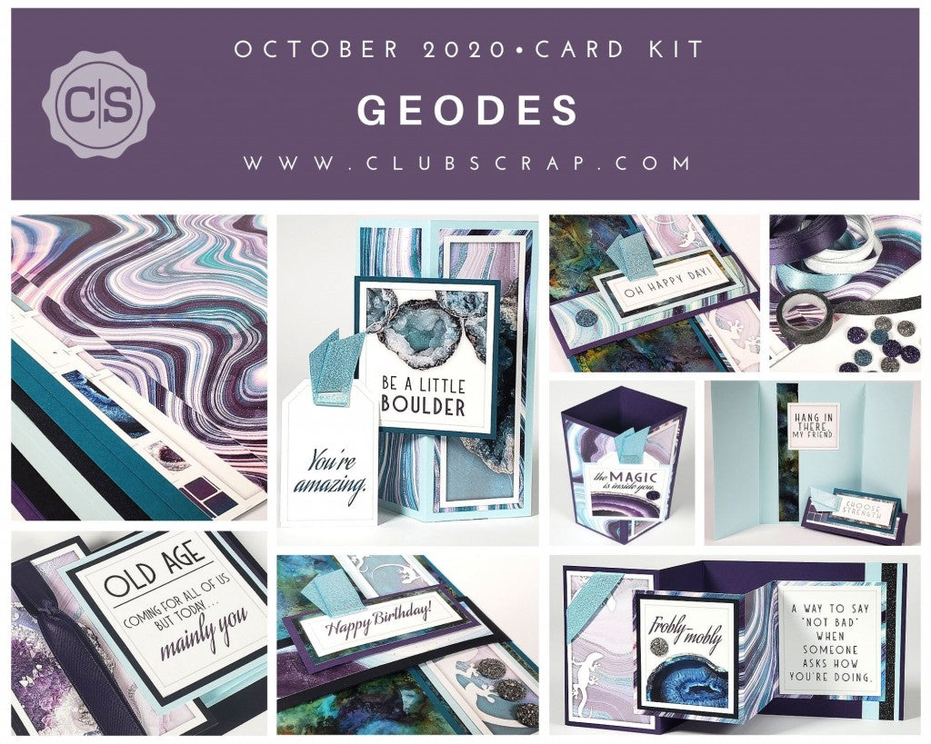 Geodes Spoiler - Card Kit by Club Scrap #clubscrap #geodes