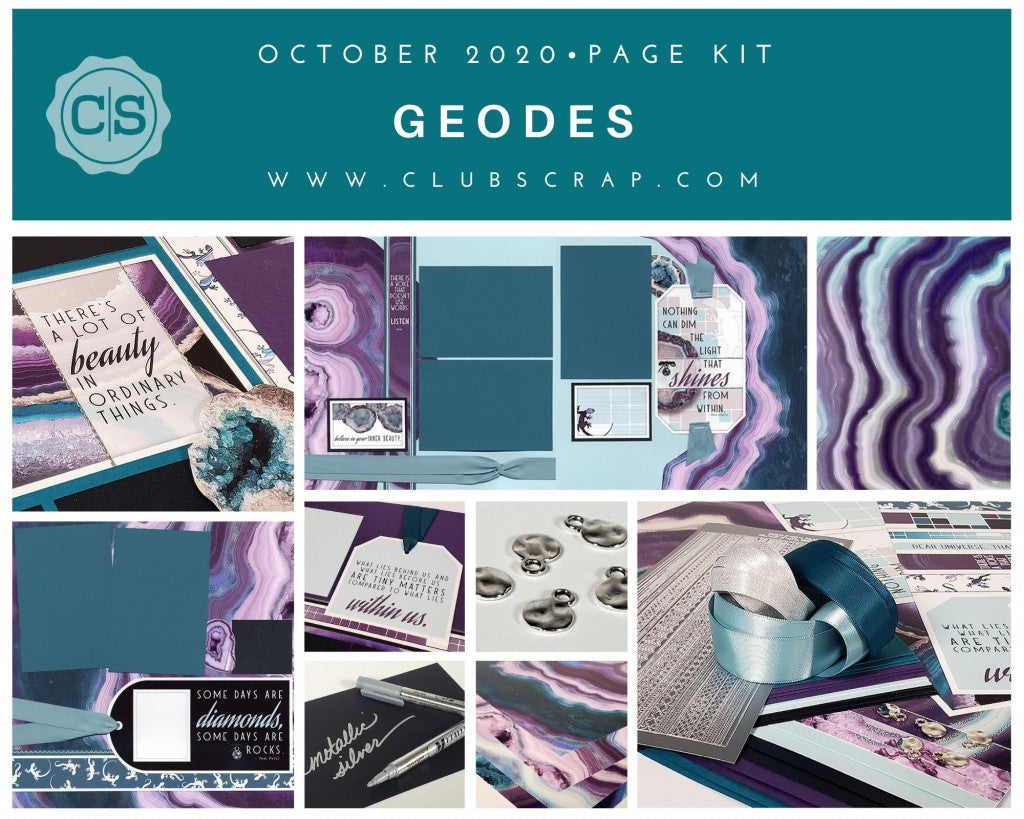 Geodes Spoiler - Page Kit by Club Scrap #clubscrap #geodes
