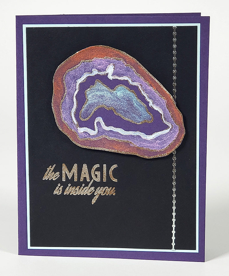 Geodes Stamps by Club Scrap #clubscrap #rubberstamps #cardmaking #geodes