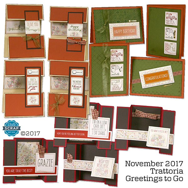 Trattoria Greetings to Go card kit