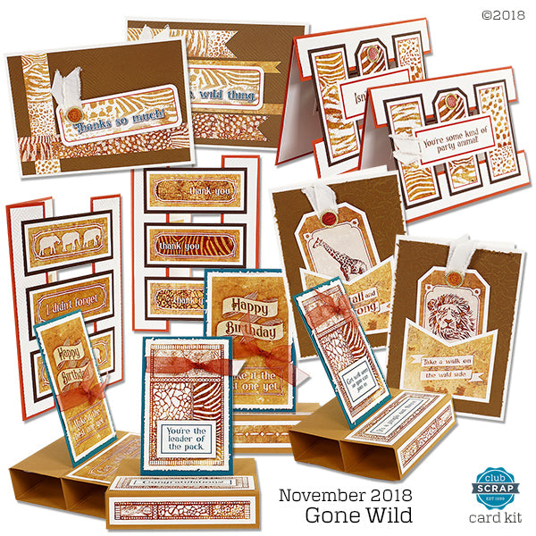 Gone Wild Card Kit #clubscrap #cardmaking