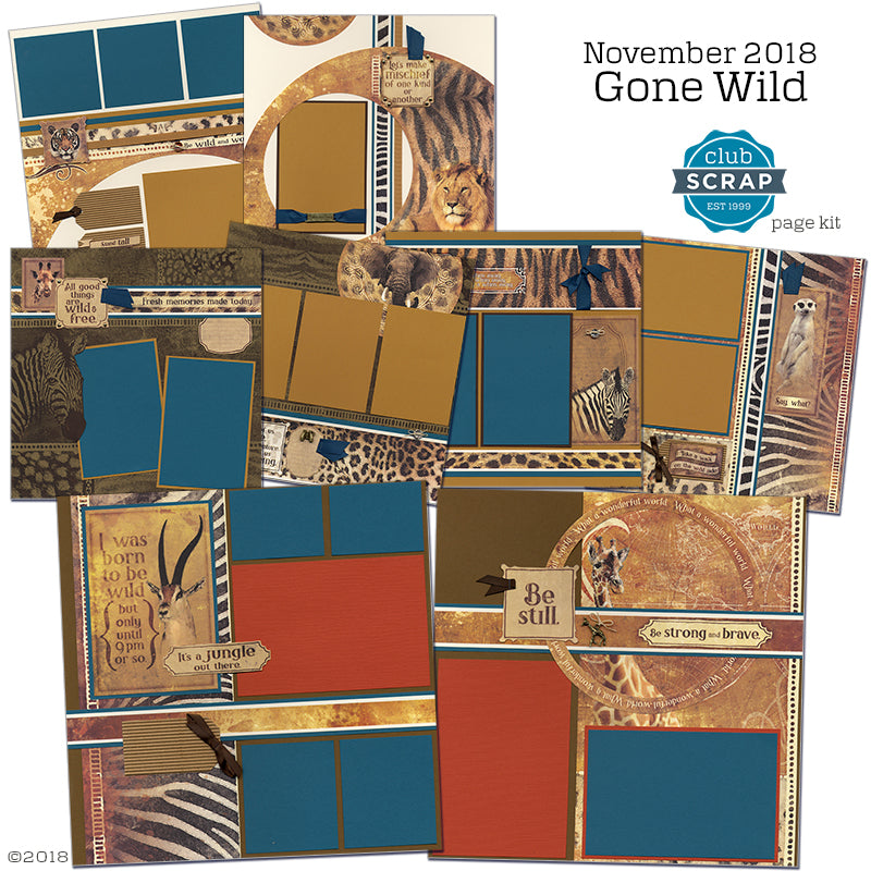 Gone Wild Page Kit #clubscrap #pagekit #scrapbooking