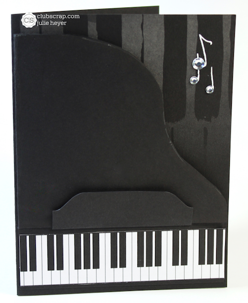 1217 Grand Piano Card A Night at the Met #clubscrap