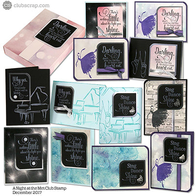Stamping Performances with A Night at the Met Club Stamp kit #clubscrap #cardmaking