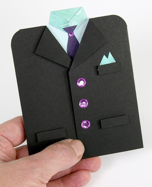 Tuxedo Card Created with Club Scrap's A Night at the Met Collection #clubscrap, #tuxedocard