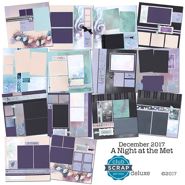 A Night at the Met Deluxe page kit