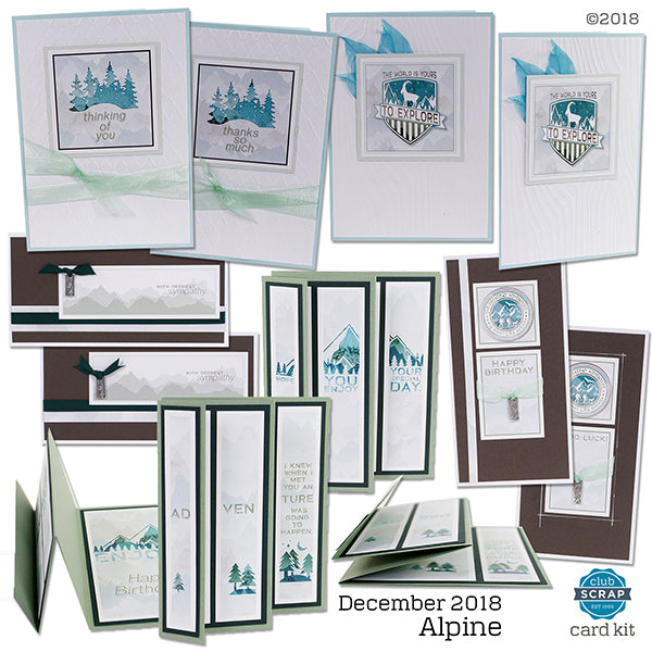 Alpine Collection by Club Scrap - Card Kit #clubscrap #cardmaking