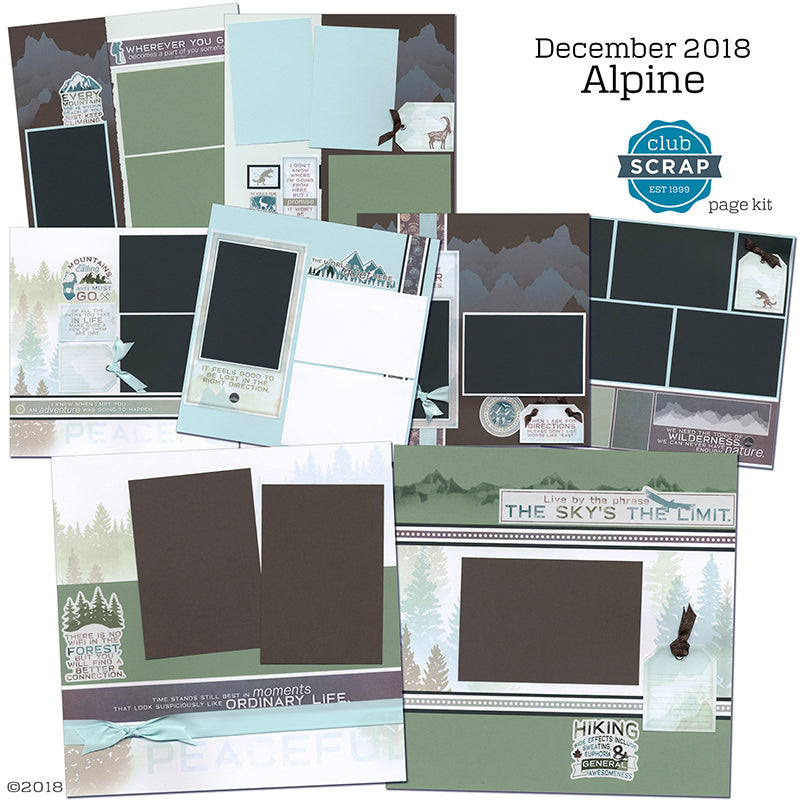 Alpine Collection by Club Scrap - Page Kit #clubscrap #scrapbooking