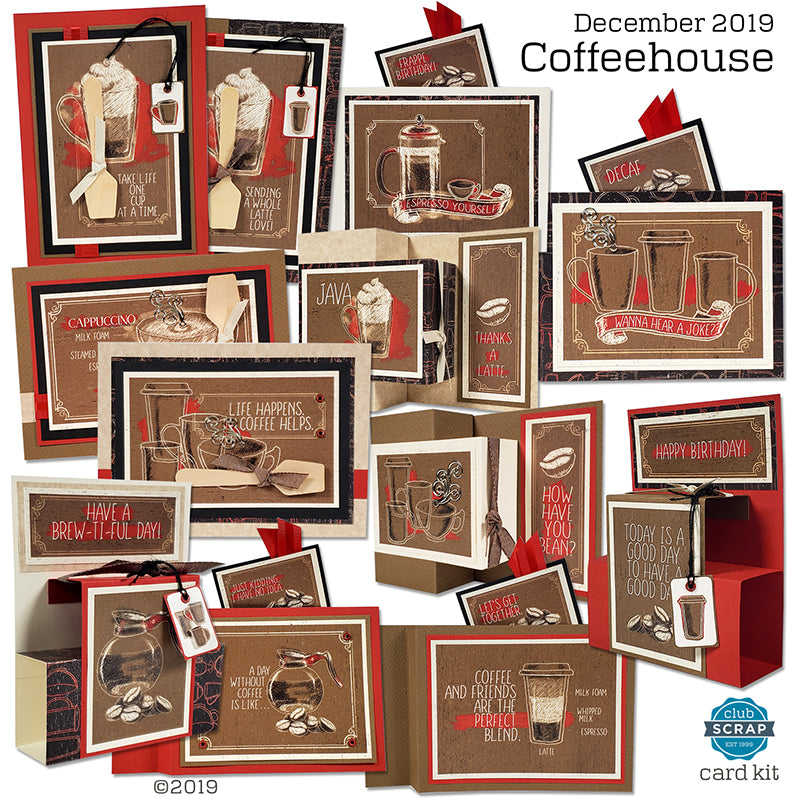 Coffeehouse Card Kit by Club Scrap #clubscrap #cardmaking #cardkit