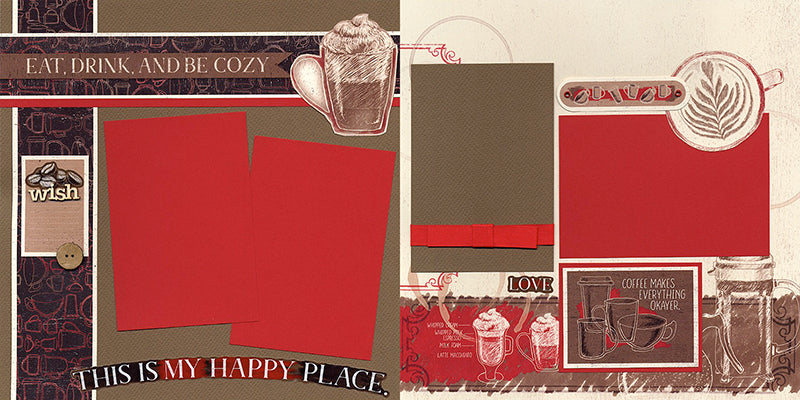 Coffeehouse Pages by Club Scrap #clubscrap #scrapbooking #pagekit