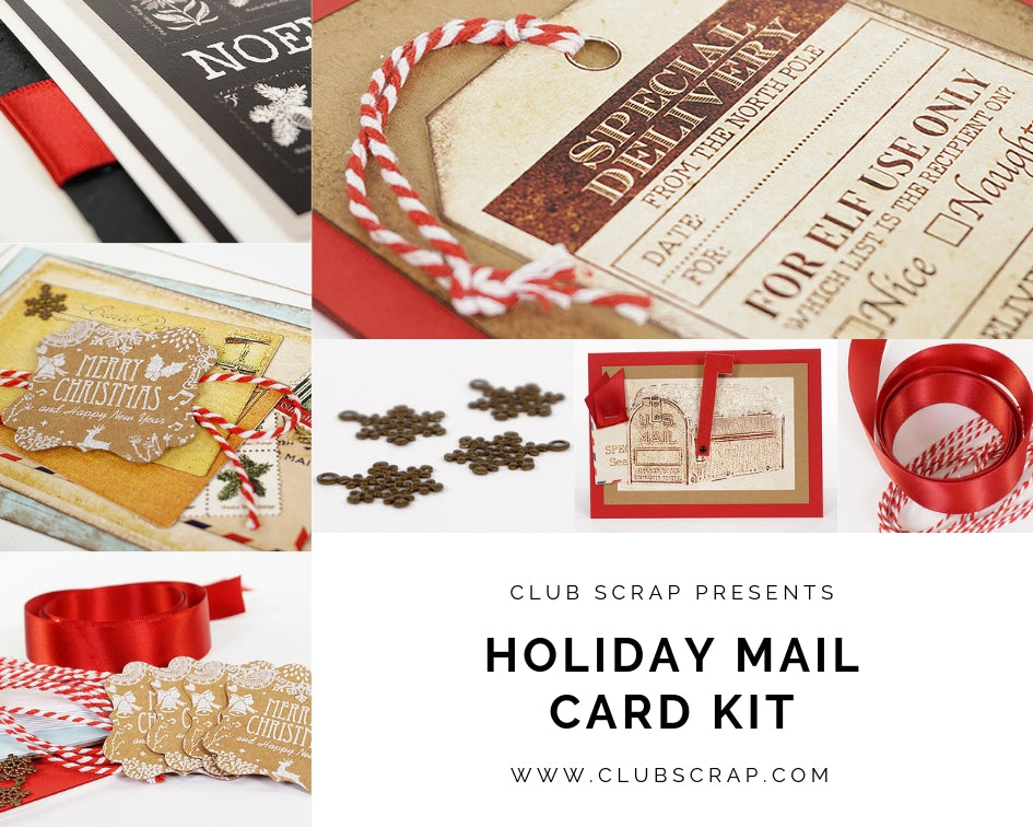 Holiday Mail Card Kit by Club Scrap #clubscrap #cardmaking