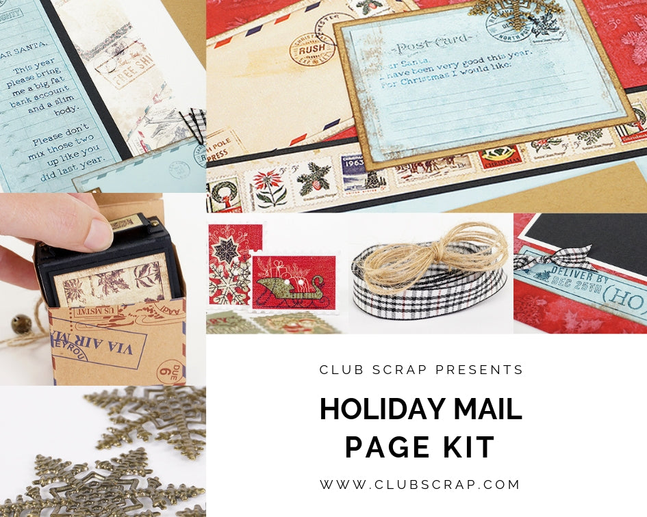 Holiday Mail Page Kit by Club Scrap #clubscrap #scrapbooking