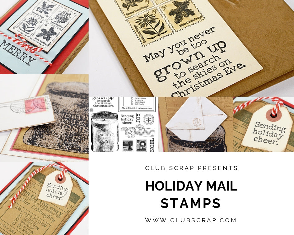 Holiday Mail Stamps by Club Scrap #clubscrap #cardmaking #stamping