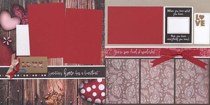 Club Scrap's Sweet on You collection for Valentine's Day #clubscrap #scrapbooking