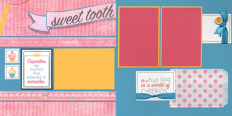 Sweet Tooth Remix #clubscrap #scrapbooking
