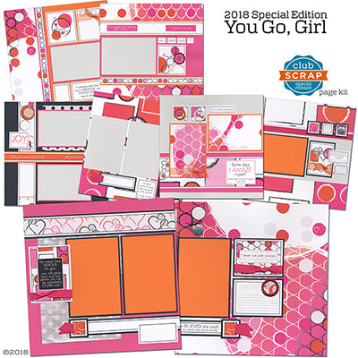 You Go, Girl Collection from Club Scrap #clubscrap #scrapbooking #internationalwomensday
