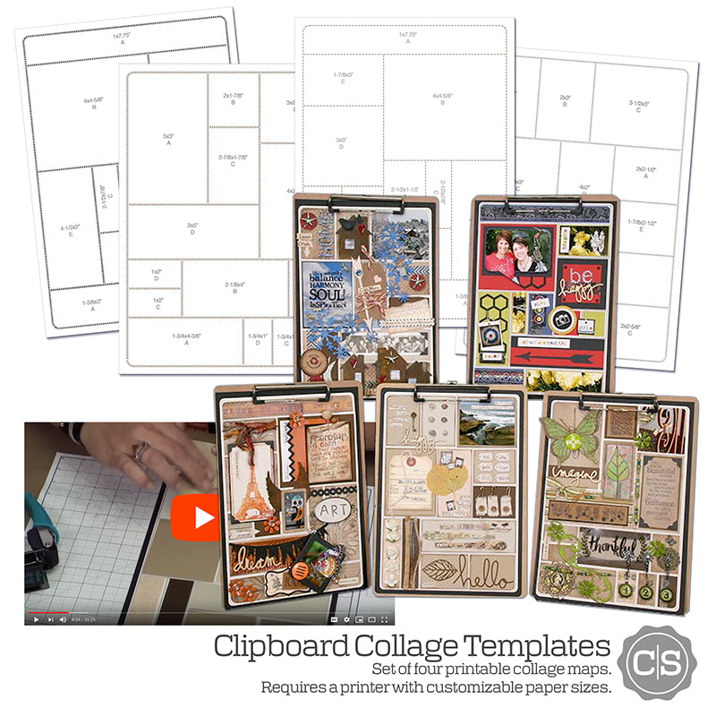 Clipboard Collage #clubscrap #templates #printables #project #clipboard